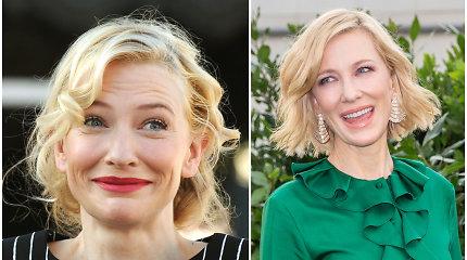 Incidentas su grandininiu pjūklu aktorei Cate Blanchett galėjo baigtis tragiškai: susižalojo galvą
