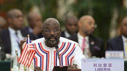 Cirkas Afrikoje: 51-erių Liberijos prezidentas atstovavo savo šalies rinktinei