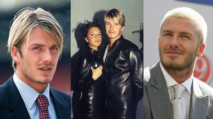 Atgal į praeitį, kai Davidas Beckhamas buvo blondinas