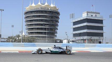 Pirmąją F-1 bolidų bandymo dieną Bahreine greičiausias buvo Nico Hulkenbergas