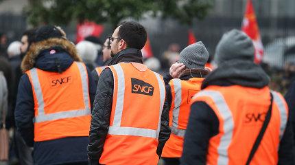 Prancūzijoje dėl streiko atšaukta 90 proc. greitųjų traukinių penktadienio reisų