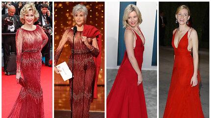 """Ta pati suknelė, tik po kelerių metų: """"Oskarams"""" įžymybės rinkosi ne pirmą kartą vilkėtus drabužius"""