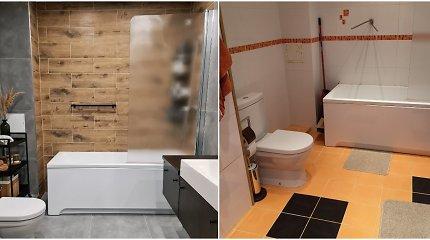 Akvilės vonios kambario remontas: tik viena detalė šią namų erdvę pakeitė neatpažįstamai
