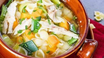 Sloguojantiems ir kosintiems – 3 paprastos ir gardžios vištienos sriubos