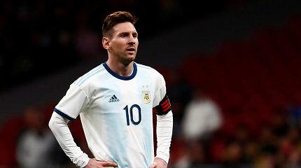 Lionelis Messi dėl pralaimėjimo Brazilijai apkaltino teisėjus