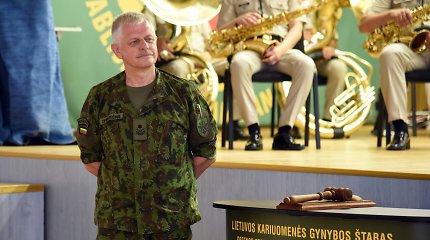 Vilniuje pasikeitė Gynybos štabo vadas, kariuomenės vyr. puskarininkis