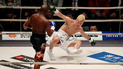 Greiti 9 milijonai: Floydas Mayweatheris užgesino japonų žvaigždę pirmajame raunde