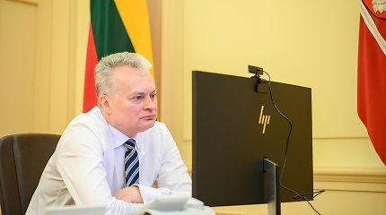 G.Nausėda su ES lyderiais tarsis dėl bendro atsako į koronaviruso krizę