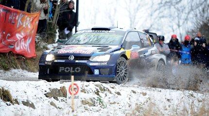 WRC Monte Karlo ralyje po Sebastieno Loebo klaidos į priekį išsiveržė Sebastienas Ogier