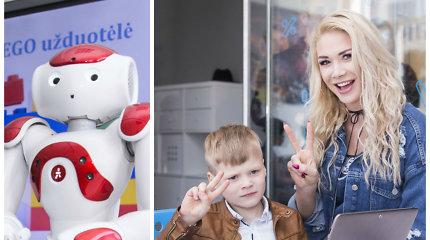 Robotų kūrimo šventė priviliojo garsenybes su atžalomis: konstravo ir Natalijos Bunkės sūnus