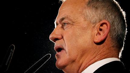 B.Gantzas informavo Izraelio prezidentą nesugebėjęs suformuoti vyriausybės