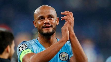 """Vincentas Kompany palieka """"Manchester City"""" ir taps žaidžiančiuoju treneriu"""