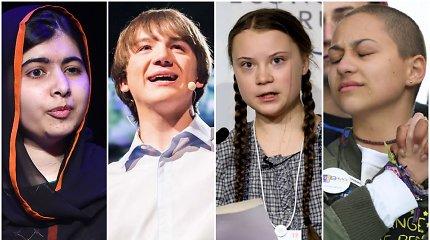 Jų istorijos įkvepia: keturi paaugliai, kurie pakeitė pasaulį