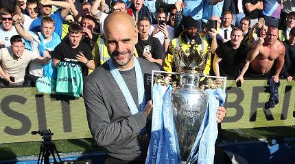 J.Guardiola – geriausias Anglijos čempionato treneris