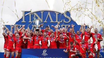 """""""Saracens"""" regbininkai trečią kartą iškovojo Europos Čempionų taurę"""