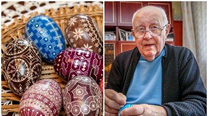 Vladas turi įspūdingą 300 kiaušinių kolekciją: raštus išskutinėjo skalpeliu