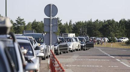 Keliantis į Klaipėdą – didelės automobilių eilės