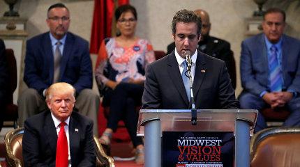 """""""BuzzFeed"""" šaltiniai: D.Trumpas nurodė M.Cohenui meluoti liudijant Kongrese"""