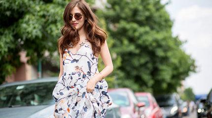 Gatvės stilius: 9 vasarinių suknelių ir ilgaaulių batų deriniai