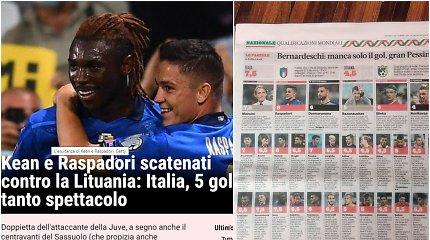 """Po 5:0 Italija vertino ir priminė: """"Ramiai – tai tik Lietuva, grupės pyragaitis"""""""