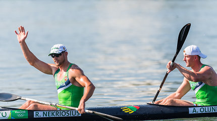 Ričardas Nekriošius ir Andrejus Olijnikas pasaulio čempionate užėmė 9 vietą