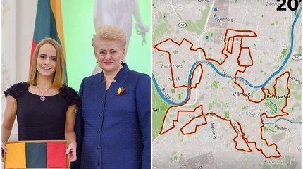 """Prezidentė įvertino Mingailės iniciatyvą Vilniaus gatvėse """"nubėgti"""" Vytį: didžiuojuosi, kad esu lietuvė!"""