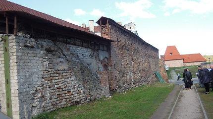 Restauruojama Vilniaus gynybinė siena