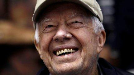Buvęs JAV prezidentas Jimmy Carteris paguldytas į ligoninę