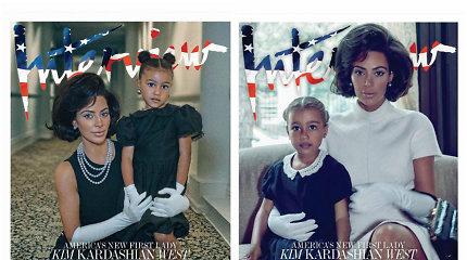 Tokios Kim Kardashian dar nematėte: naujoje fotosesijoje įkūnijo elegantiškąją Jackie Kennedy