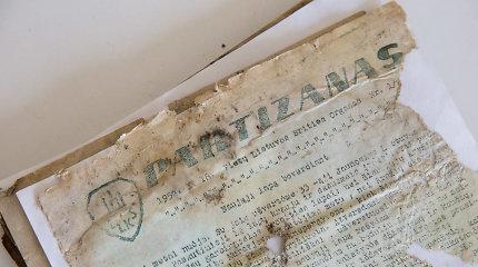 15min lankosi pas restauratorius: kaip dešimtmečius slėpti partizanų dokumentai atgyja