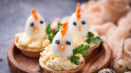 25 šventiniai patiekalai su kiaušiniais Velykų stalui