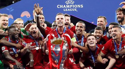"""Čempionų lygos finale – """"Liverpool"""" triumfas po 14 metų ir sirgalės akibrokštas"""