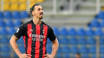 """Parmoje """"AC Milan"""" išsikapstė ir be išvaryto Z.Ibrahimovičiaus"""