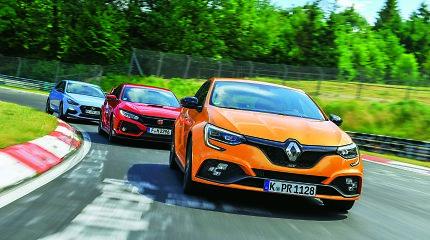 """Testuojam lenktynių trasoje – """"Hyundai"""", """"Renault"""" ir """"Honda"""""""