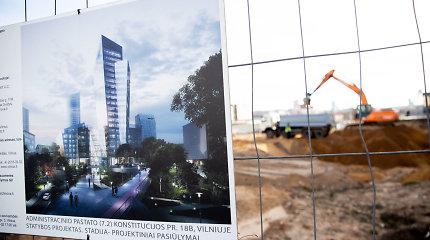 Pradėtos Danielio Libeskindo dangoraižio Vilniuje statybos