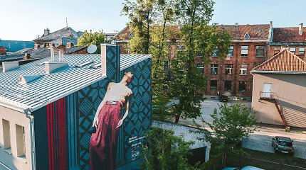 Kauną papuošė trys dideli gatvės meno kūriniai