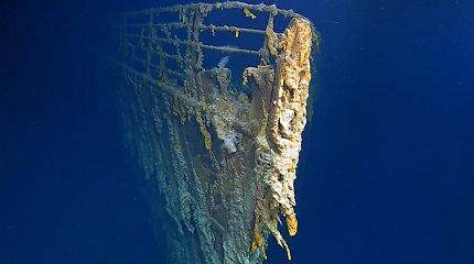 """Kas liko iš """"Titaniko""""? Ekspedicija atskleidė, kad legendinis laivas sparčiai nyksta Atlanto gelmėse"""