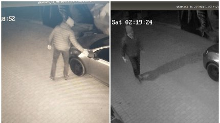 Užupyje ieškomas mašiną apgadinęs vandalas