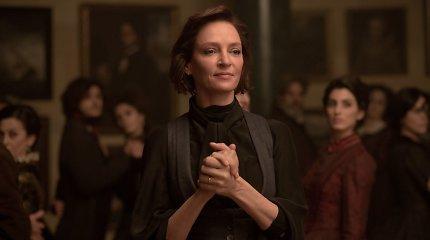 """Siaubo trileryje """"Vartai į anapus"""" suvaidinusi Uma Thurman paaiškino, kaip renkasi vaidmenis"""