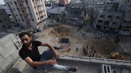 Po padegamųjų balionų – Izraelio smogis taikiniams Gazos Ruože