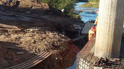 Sustabdytos nelegalaus tilto per Šventąją statybos