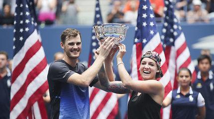 """""""US Open"""" mišrių porų finale – brito rekordas ir nuostabus amerikietės sugrįžimas"""