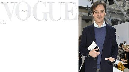 """Naujausio """"Vogue Italia"""" viršelis – reakcija į koronaviruso pandemiją: balta – pagarba tiems, kurie aukojasi dėl mūsų"""