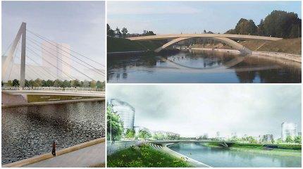 Paskelbti naujo pėsčiųjų tilto Vilniuje pasiūlymai: įvertinkite