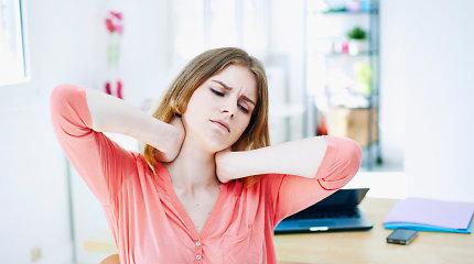 Kineziterapeutė pataria, kaip sumažinti sėdimo darbo daromą žalą kūnui