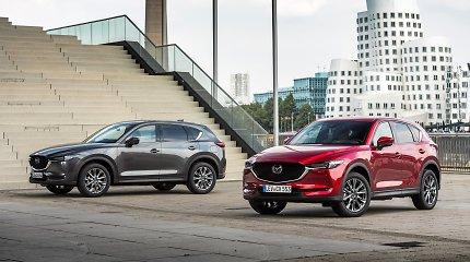 """Atnaujinta """"Mazda CX-5"""" – su naktį pėsčiuosius atpažįstančia sistema"""