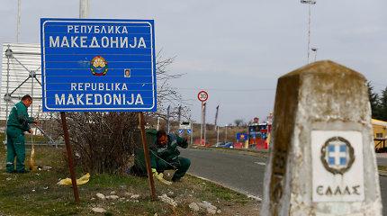 Šiaurės Makedonijoje pareigūnai aptiko 40 furgone pasislėpusių migrantų