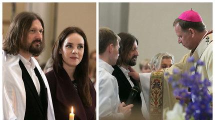 """Rašytojas Mindaugas Valiukas Velykų naktį Katedroje priėmė krikštą: """"Manyje įvyko labai stiprus pokytis"""""""