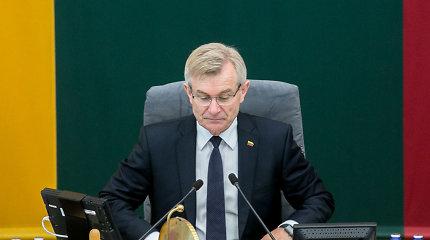 V.Pranckietis sako puikiai žinantis, kad Seime pritrūktų balsų jį atstatydinti