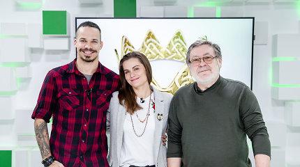 """15min studijoje – didžiausio lietuviško miuziklo """"Mindaugas Karalius"""" aktoriai"""